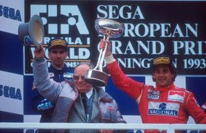 Ayrton Senna, McLaren, Damon Hill, Williams, Tom Wheatcroft, propietario del circuito