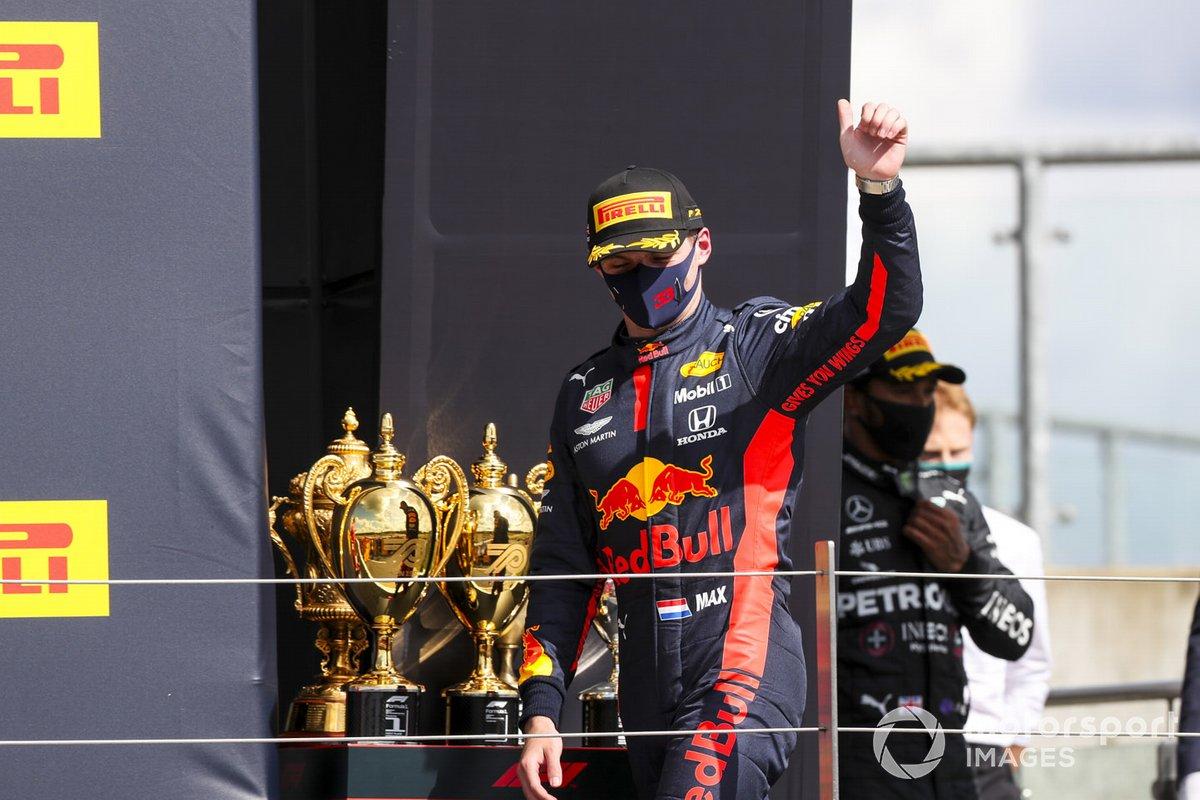 Max Verstappen, Red Bull Racing sul podio