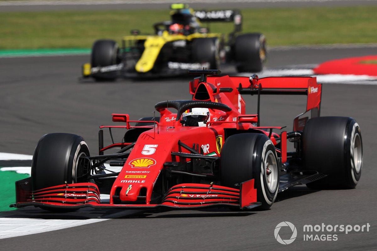 Sebastian Vettel, Ferrari SF1000, Esteban Ocon, Renault F1 Team R.S.20