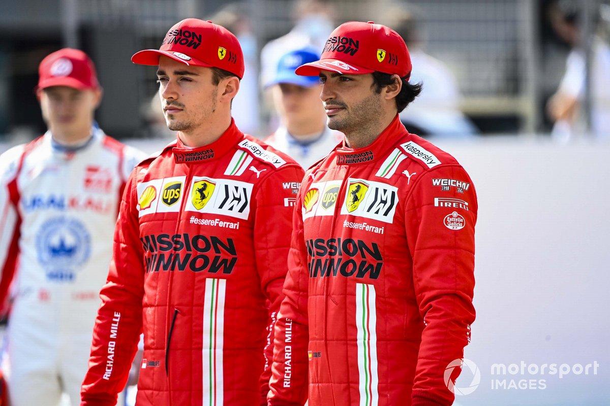 Charles Leclerc, Ferrari, y Carlos Sainz Jr., Ferrari