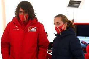 Maya Weug and Marco Matassa, head of the Ferrari Driver Academy