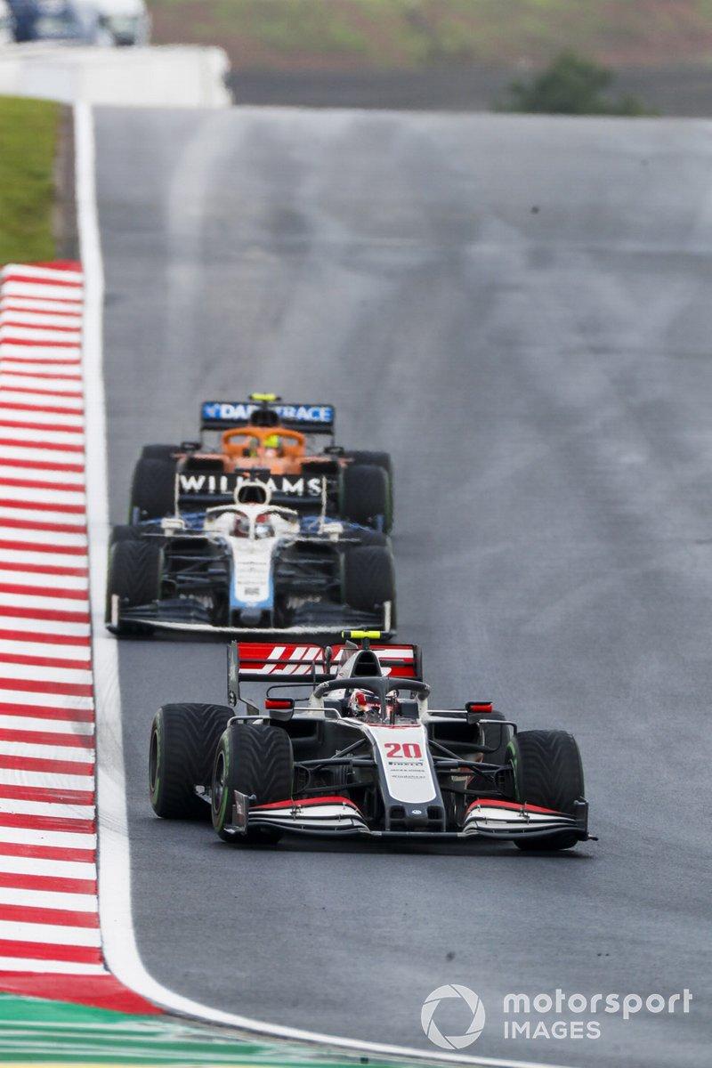 Kevin Magnussen, Haas VF-20, George Russell, Williams FW43, Lando Norris, McLaren MCL35