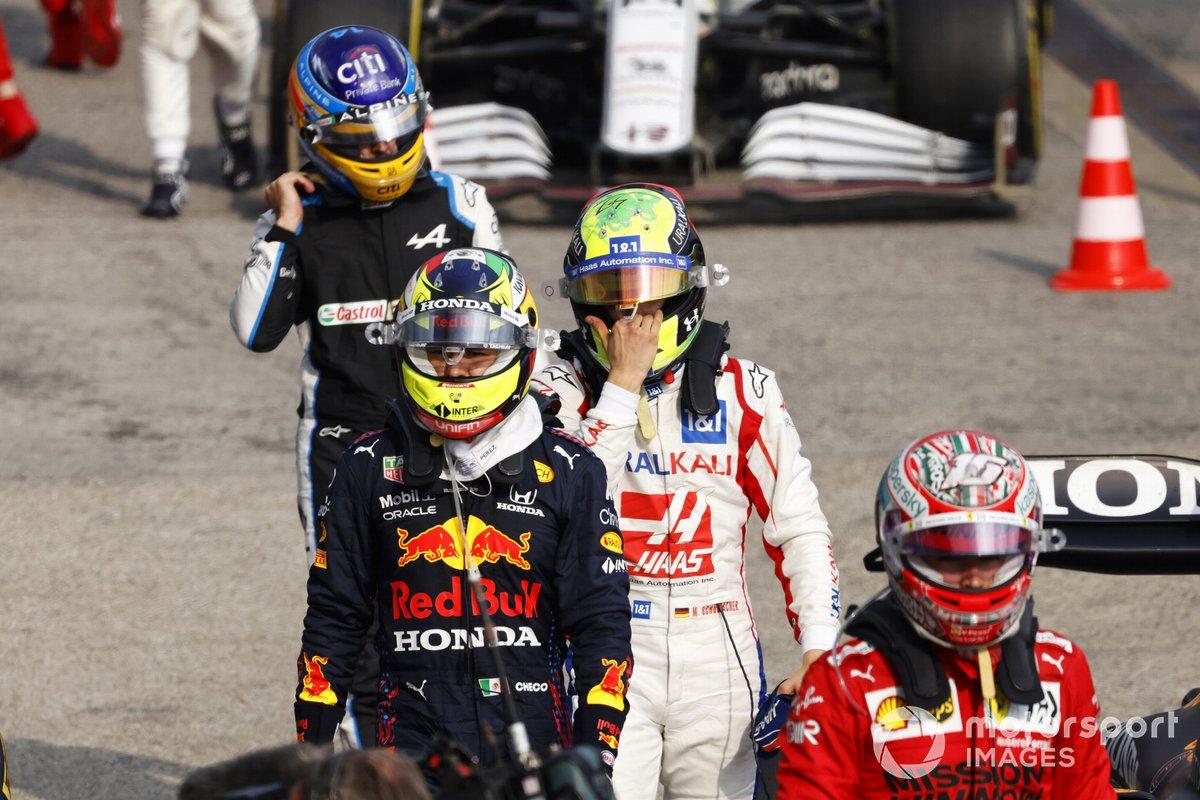 Charles Leclerc, Ferrari, Sergio Pérez, Red Bull Racing, Mick Schumacher, Haas F1, Fernando Alonso, Alpine F1