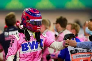 Lance Stroll, Racing Point, 3rd position, in Parc Ferme