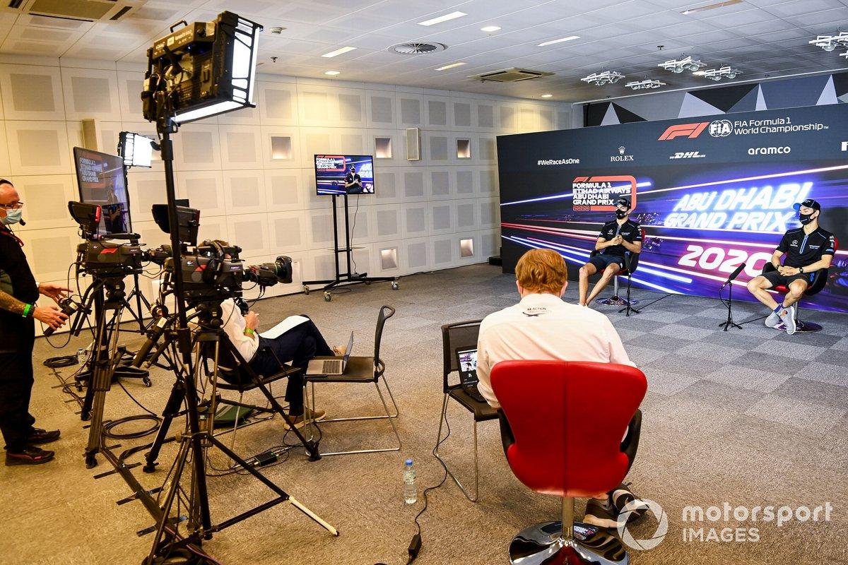 Jack Aitken, Williams Racing y Nicholas Latifi, Williams Racing, en rueda de prensa