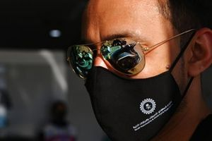 The car of Tom Blomqvist, NIO 333, NIO 333 001, reflected in sunglasses
