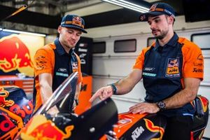 Brad Binder, Red Bull KTM Factory Racing en Miguel Oliveira, Red Bull KTM Factory Racing