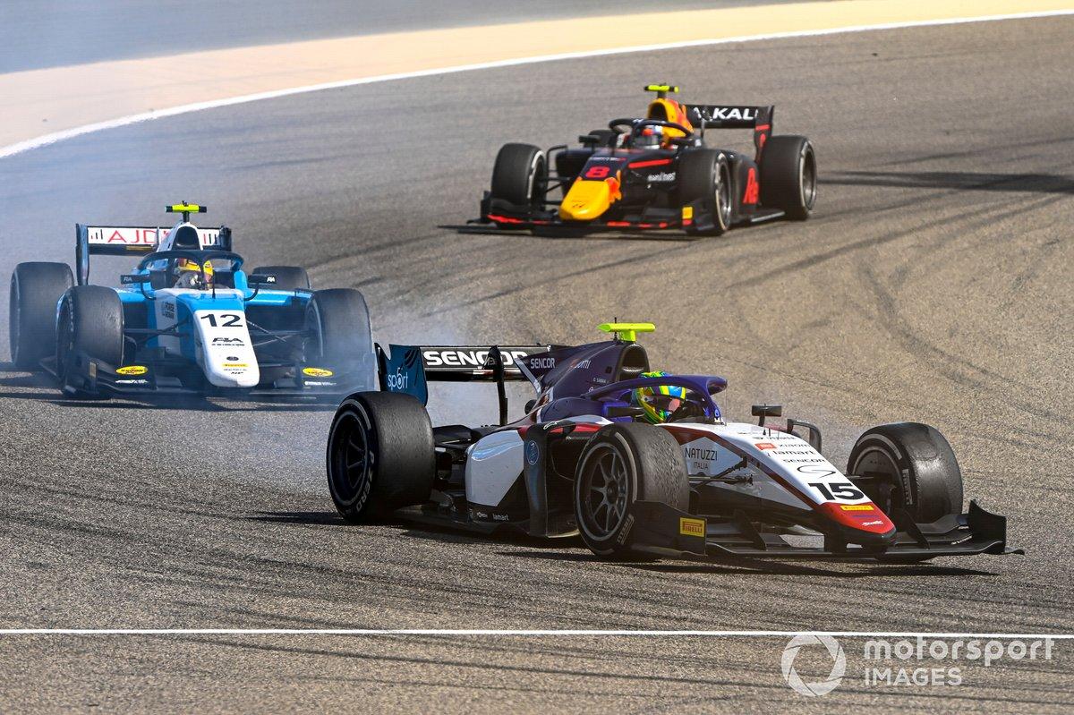 Guilherme Samaia, Charouz Racing System, Lirim Zendeli, MP Motorsport and Juri Vips, Hitech Grand Prix