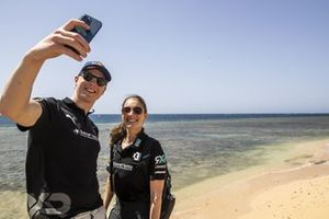 Johan Kristoffersson , Rosberg X Racing, takes a selfie with Molly Taylor, Rosberg X Racing