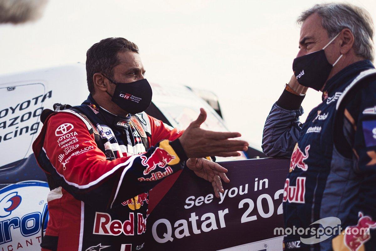 #301 Toyota Gazoo Racing: Nasser Al-Attiyah, #300 X-Raid Mini JCW Team: Carlos Sainz