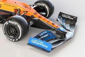 Detail voorvleugel McLaren MCL35M