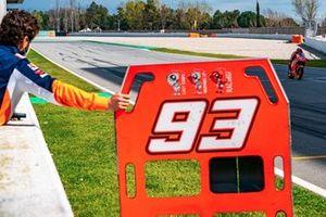 Marc Marquez au guidon d'une Honda RC213V-S