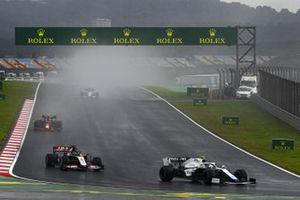 Nicholas Latifi, Williams FW43, Romain Grosjean, Haas VF-20, and Alex Albon, Red Bull Racing RB16