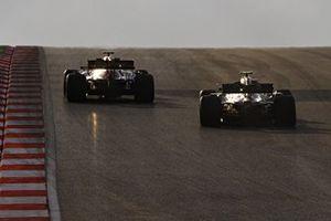 Kimi Raikkonen, Alfa Romeo Racing C39, Valtteri Bottas, Mercedes F1 W11