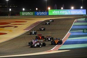 Antonio Giovinazzi, Alfa Romeo Racing C39, Carlos Sainz Jr., McLaren MCL35, Lance Stroll, Racing Point RP20, Kevin Magnussen, Haas VF-20, en Sebastian Vettel, Ferrari SF1000