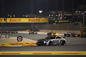 The safety car Lewis Hamilton, Mercedes F1 W11 and Max Verstappen, Red Bull Racing RB16