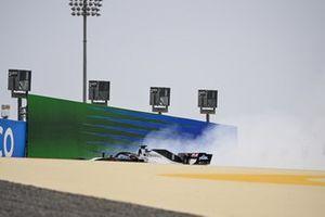Romain Grosjean, Haas VF-20, in the gravel