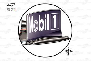 Red Bull Racing RB16 front wing end plate