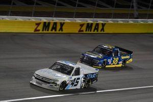 Brett Moffitt, Niece Motorsports, Chevrolet Silverado The Strat, Todd Gilliland, Front Row Motorsports, Ford F-150 Speedco