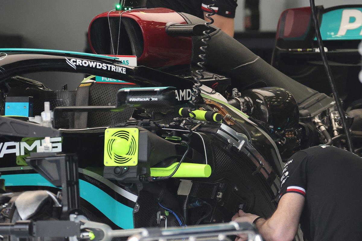 Detalles del Mercedes W12