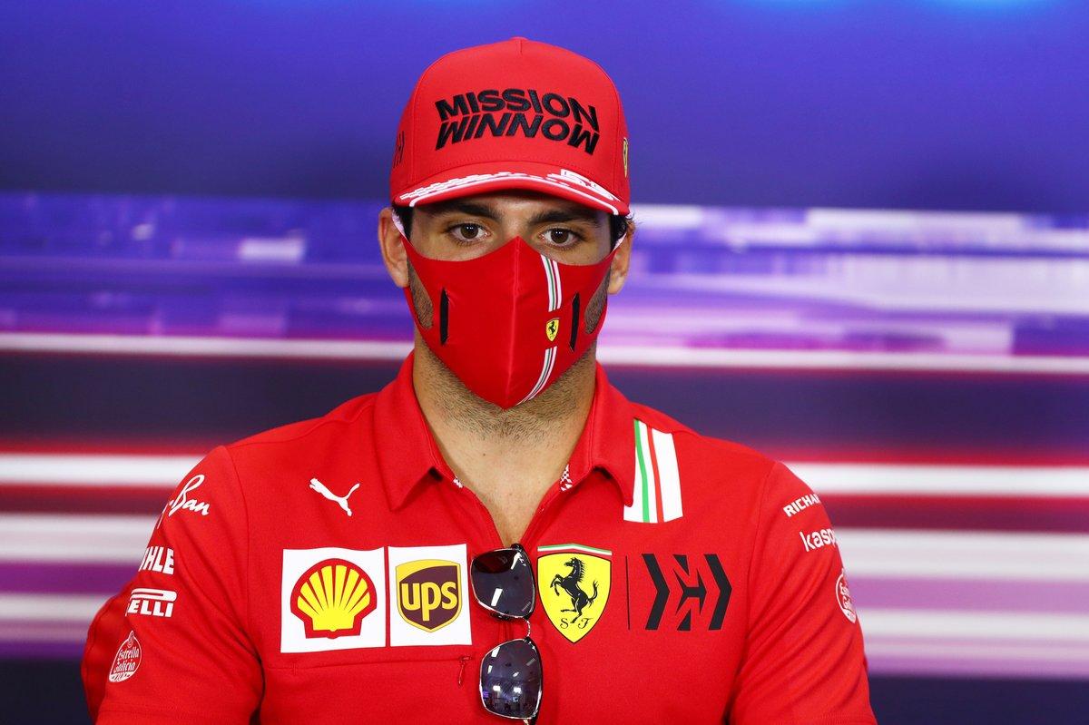 Carlos Sainz Jr., Ferrari, en la conferencia de prensa