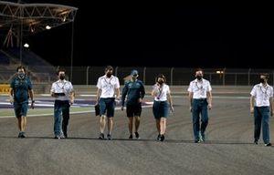 Sebastian Vettel, Aston Martin track walk