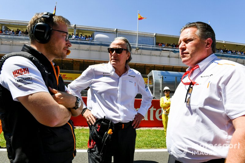Andreas Seidl, Team Principal, McLaren, Mansour Ojjeh, co-owner, McLaren, Zak Brown, Executive Director, McLaren