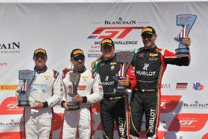 #7, Ferrari 488 GT3, Martin Fuentes and Caeser Bacarella, #19 Ferrari 488 GT3 Christopher Cagnazzi and Brian Kaminskey