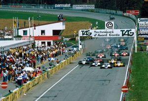 Start zum GP Österreich 1982 auf dem Österreichring in Zeltweg