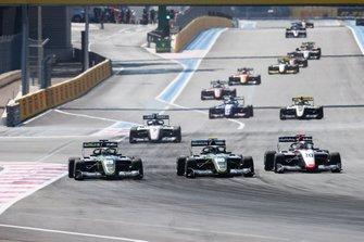 Teppei Natori, Carlin Buzz Racing Felipe Drugovich, Carlin Buzz Racing and Leonardo Pulcini, Hitech Grand Prix