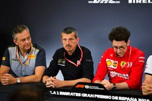 Mario Isola, Racing Manager, Pirelli Motorsport, Guenther Steiner, Team Principal, Haas F1, and Mattia Binotto, Team Principal Ferrari, in a Press Conference