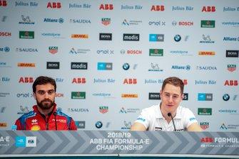 Jérôme d'Ambrosio, Mahindra Racing, Stoffel Vandoorne, HWA Racelab alla conferenza stampa