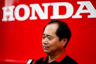 Toyoharu Tanabe, F1 Technical Director, Honda speaks to the media