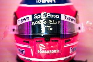 Шлем гонщика Racing Point F1 Team Лэнса Стролла