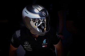 L'équipe des stands de Mercedes