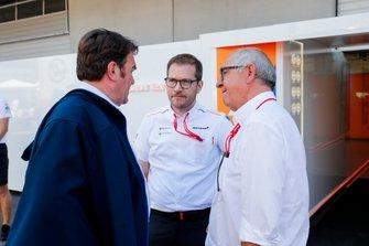 Bram Schot, Audi CEO and Andreas Seidl, Team Principal, McLaren