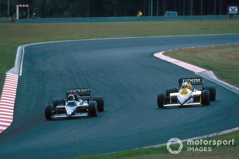 Stefan Bellof, Tyrrell, Nigel Mansell, Williams FW10
