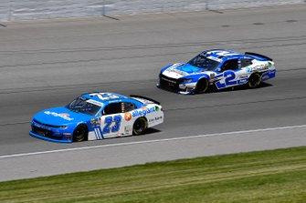 John Hunter Nemechek, GMS Racing, Chevrolet Camaro Fire Alarm Services, INC and Tyler Reddick, Richard Childress Racing, Chevrolet Camaro KC Motorgroup