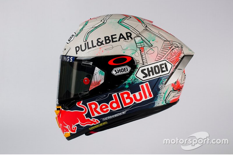Design del casco di Marc Marquez