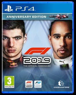 Cover F1 2019 met Max Verstappen en Lewis Hamilton