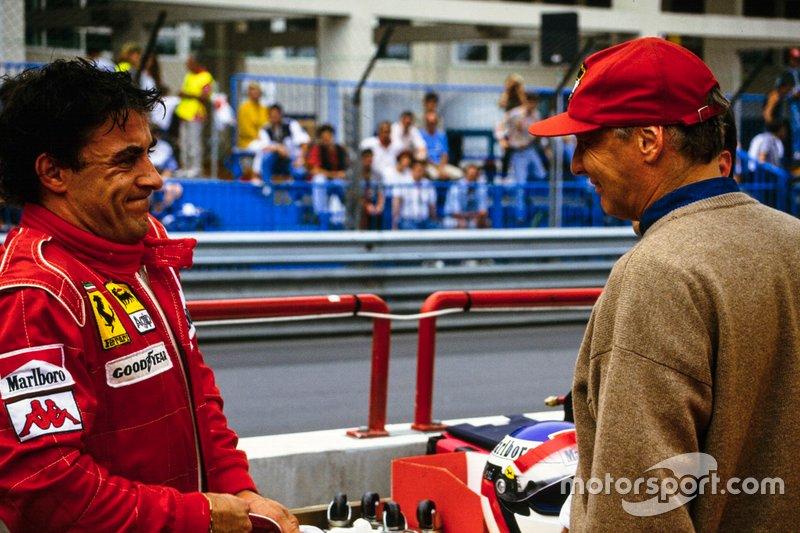 Jean Alesi et Niki Lauda