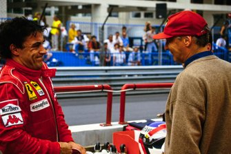Jean Alesi, Ferrari, mit Niki Lauda