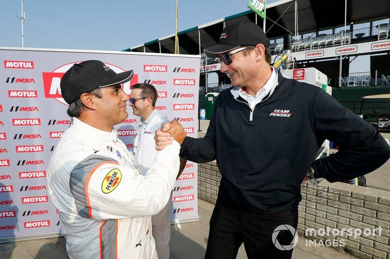 Ganador del Motul Pole Award #6 Acura Team Penske Acura DPi, DPi: Juan Pablo Montoya con Tim Cindric