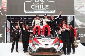 Les vainqueurs Ott Tänak, Martin Järveoja, Toyota Gazoo Racing WRT