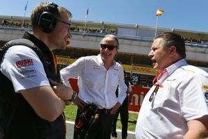 Andreas Seidl, Team Principal, McLaren, Mansour Ojjeh, co-owner, McLaren, and Zak Brown, Executive Director, McLaren