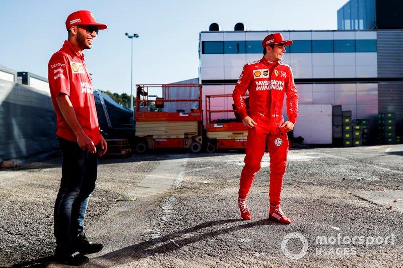Charles Leclerc, Ferrari, and Antonio Fuoco, Ferrari