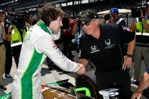 Colton Herta, Harding Steinbrenner Racing Honda, Al Unser Jr.