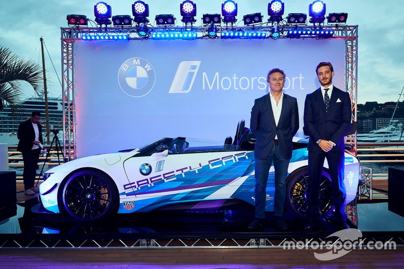 "Unveil of the BMW i8 Roadster Safety Cars at ""Yacht Club de Monaco"" with Pierre Casiraghi, Alejandro Agag"