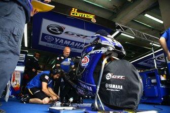 La moto de Sandro Cortese, GRT Yamaha WorldSBK après sa chute