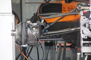 Detalle de la carrocería del McLaren MCL34